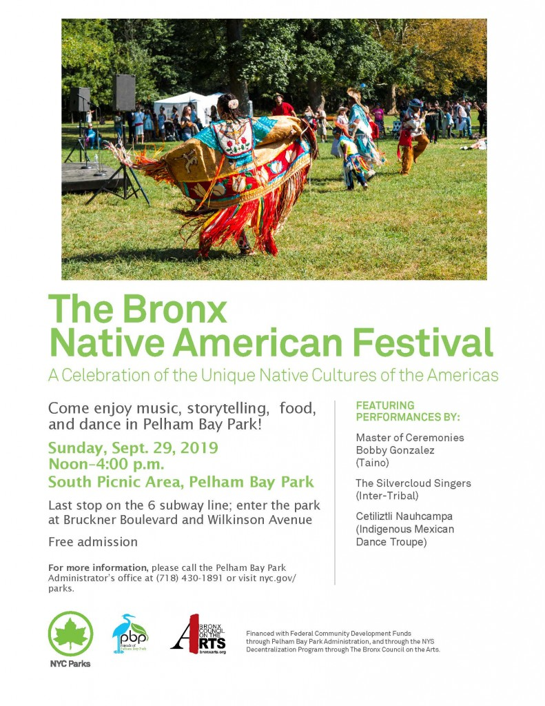 Bronx Native American Festival at Pelham Bay Park - Sept 29 2019